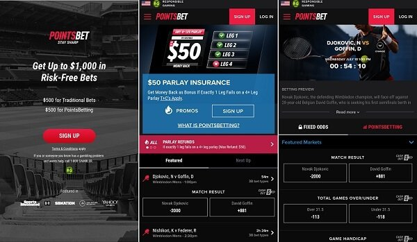 PointsBet mobile review