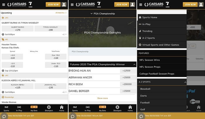 Caesars Online Sportsbook app on Android