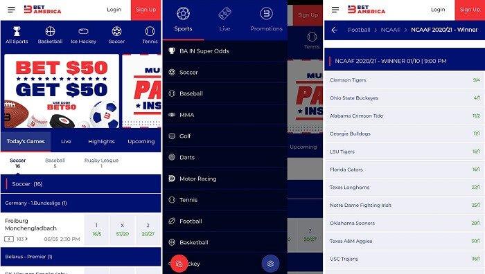 BetAmerica Sportsbook Indiana app
