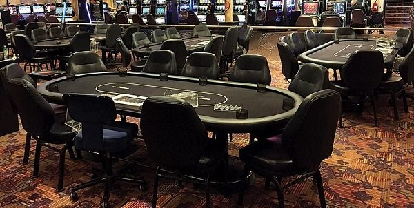 Poker room at the Tropicana Evansville Casino