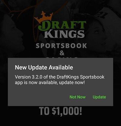 DraftKings sportsbook update