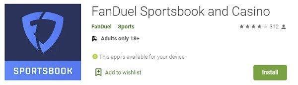 Update FanDuel sportsbook Google Play
