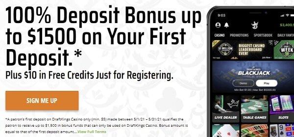 DraftKings Casino Indiana Promo code