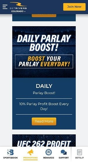 BetRivers parlay boost